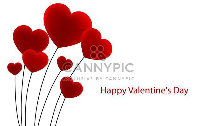 bouquet of heart shaped flowers - Free vector #134821