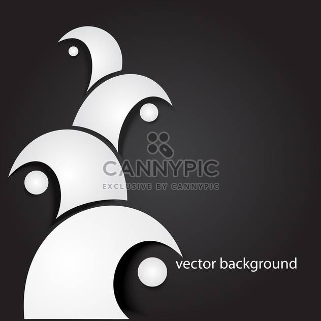 vector background with white waves - Free vector #134881