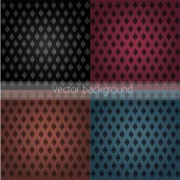 damask seamless floral pattern set - vector #134901 gratis
