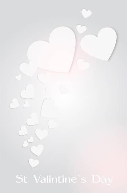 background with valentine's day hearts - vector gratuit #134911