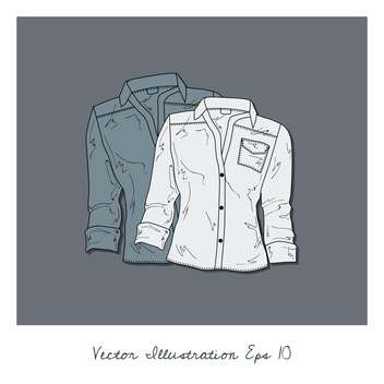 vector background with blouses collection - бесплатный vector #134931