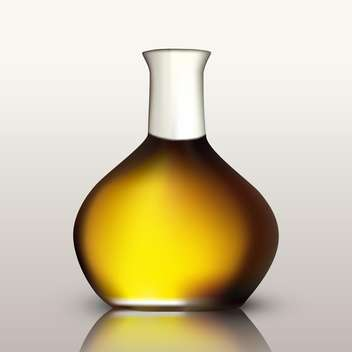 Bottle of golden oil - vector gratuit #134941