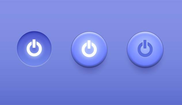 power switch icons buttons - vector gratuit #134951