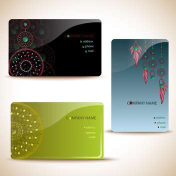 business card templates background - vector gratuit #134961