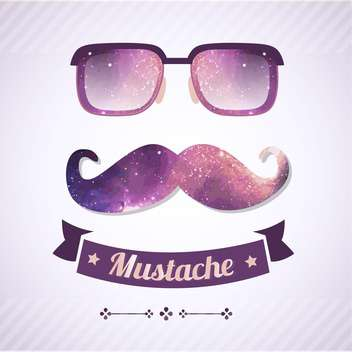 nerd glasses and mustaches retro illustration - Kostenloses vector #134971