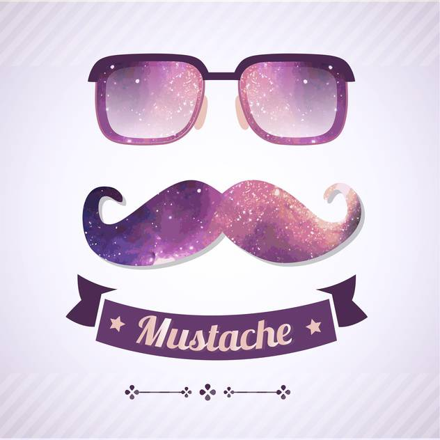 nerd glasses and mustaches retro illustration - Free vector #134971