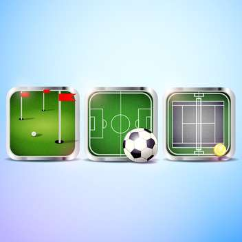 set of vector sport icons - vector gratuit #134981