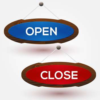 open and closed door signs background - vector gratuit #134991