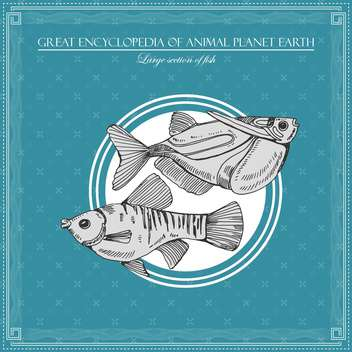 fish illustration in great encyclopedia of animal - бесплатный vector #135021