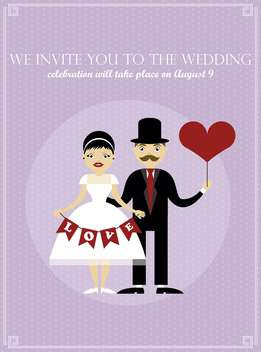 wedding day holiday invitation card background - vector #135031 gratis
