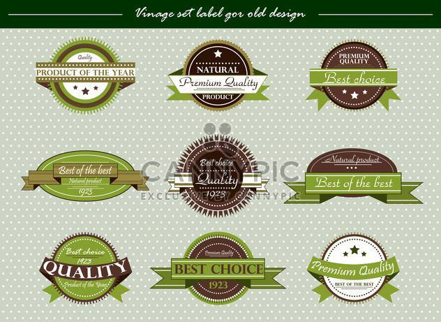vector vintage labels set in retro style - Free vector #135141