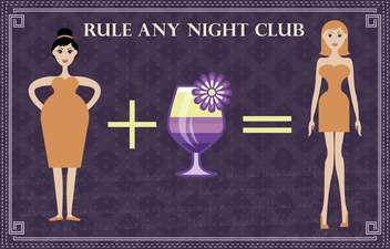 beauty rule recipe of any night club - Free vector #135161