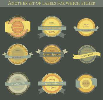 set of retro vector labels and badges background - Free vector #135201