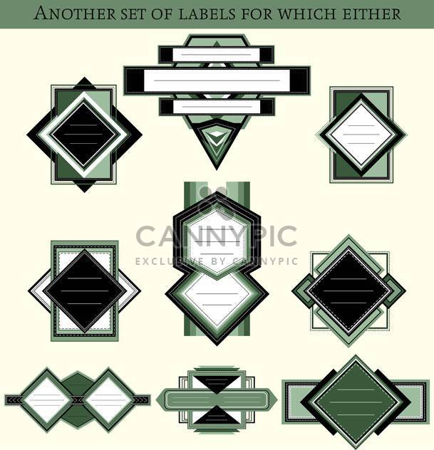 set of shop retro labels background - Free vector #135211