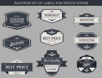 set of retro vector labels and badges background - Free vector #135221