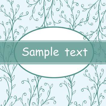 beautiful floral invitation card in blue and white colors - vector gratuit #135281