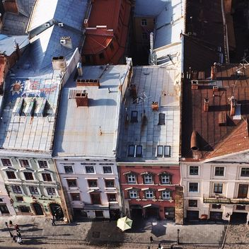 View of the roofs in Lviv, Ukraine - Kostenloses image #136231