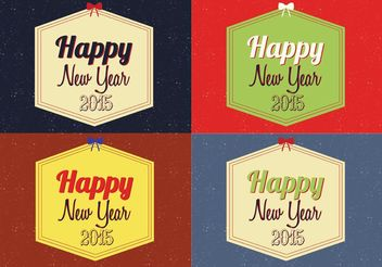 Free Happy New Year Vector Backgrounds - vector #138671 gratis