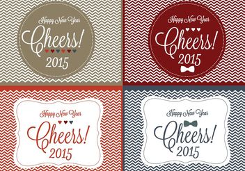 Cheers! New Year Backgrounds - Free vector #138681