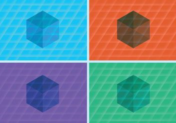 3D Cube Vector Backgrounds - Free vector #138711