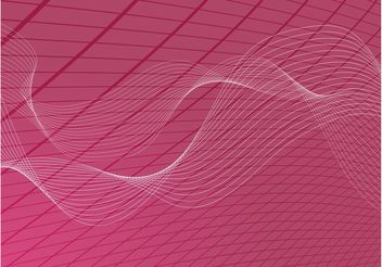Wavy Grid Background - vector gratuit #138791