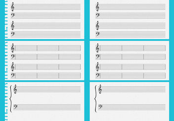 Vector Music Sheets - Free vector #138811