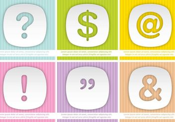 Colorful Punctuation Backgrounds - Free vector #138851