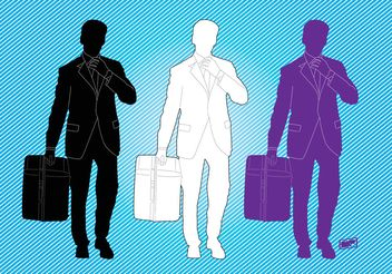 Business Man Graphics - Free vector #138881
