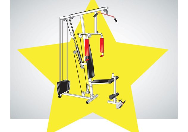Fitness Equipment Vektor - Kostenloses vector #138891