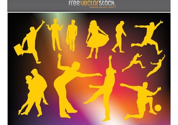 Active People Vector Graphics - vector gratuit #138911