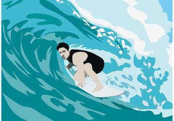 Surfer Illustration - Free vector #138951