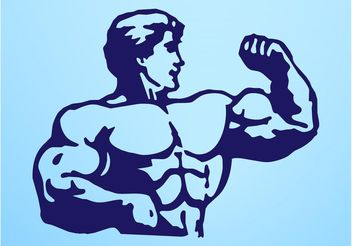 Man With Big Muscles - Free vector #139021