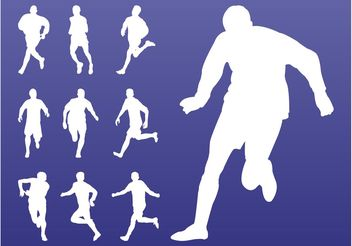 Athletes Silhouettes Pack - vector #139031 gratis