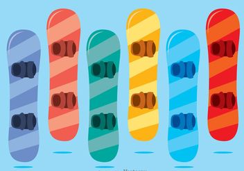 Colorful Snowboard Vector Pack - Free vector #139061