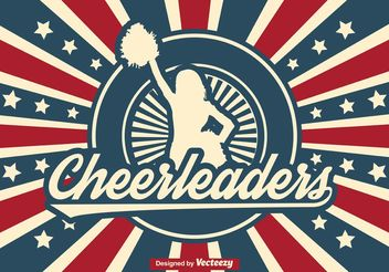 Retro Cheerleader Illustration - Free vector #139131