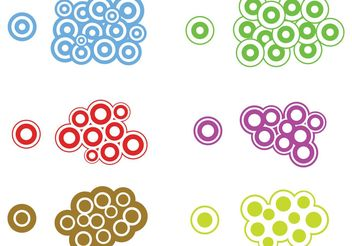 Trendy Circles - vector gratuit #139191