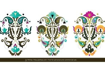 Folk Paper-Cuts Vectors - бесплатный vector #139291