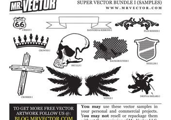 Free Super Vector Bundle Samples - vector gratuit #139311