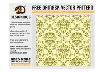 Damask seamless pattern - vector #139321 gratis