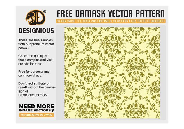 Damask seamless pattern - Kostenloses vector #139321