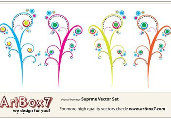 Colorful Swirls Vectors - vector gratuit #139331