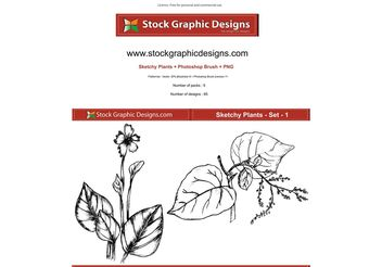 Sketchy Plants - vector gratuit #139361