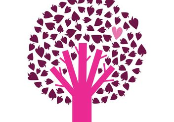 Free tree with heart - Kostenloses vector #139441