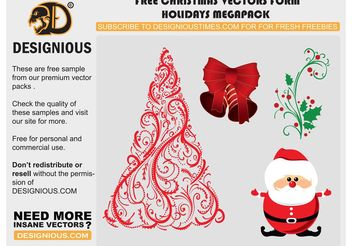 Vector christmas elements - vector gratuit #139501