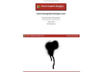 Destroy Ink and Spray - Free vector #139521