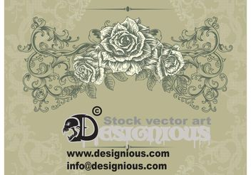 vintage floral illustration - vector gratuit #139611