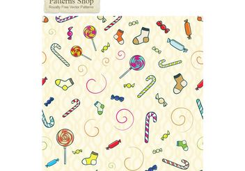 Free vector candy seamless pattern - Free vector #139671