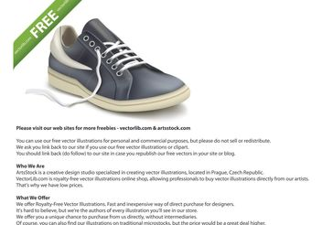 Photorealistic sports shoe - Free vector #139681