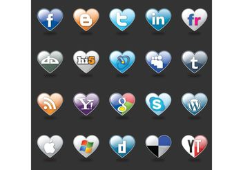 I Love Social Media - vector gratuit #139691