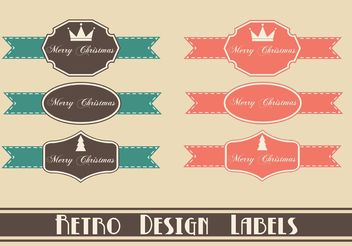 Free Retro Christmas Label Vectors - Free vector #139751